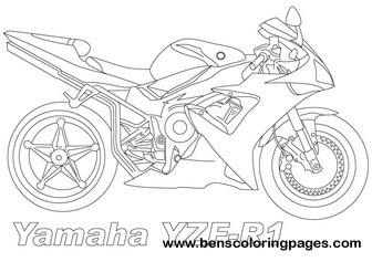 Yamaha Motorcycle Pages Coloring Pages