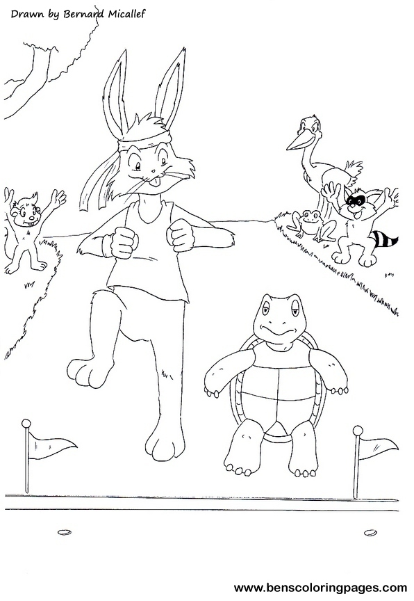 The tortoise and the hare fairy tales