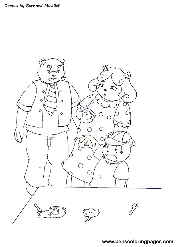 Goldilocks Puppet Coloring Pages Coloring Pages