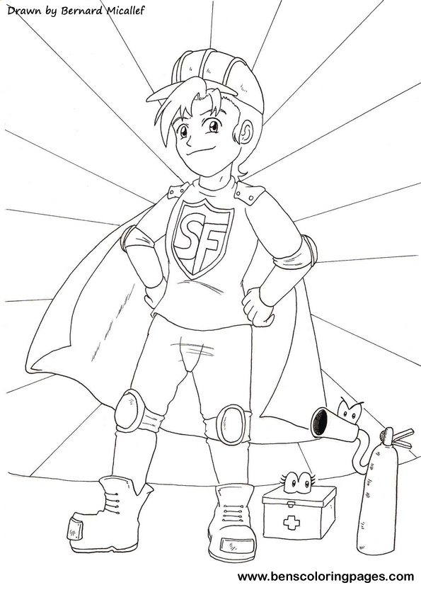 Safety Fred coloring book