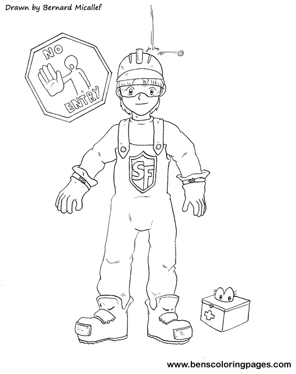Personal Protective Equipment Coloring Page Pictures to