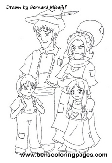 Hanesel and Gretel coloring page