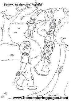 Hansel & Gretel coloring book