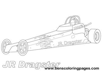 Dragster Colouring Pag