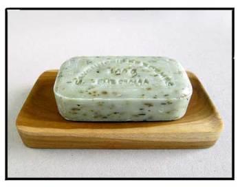 teak soap plate