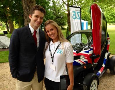Renault brand ambassadors at outdoor automotive event