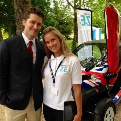 Renault brand ambassadors at outdoor automotive event