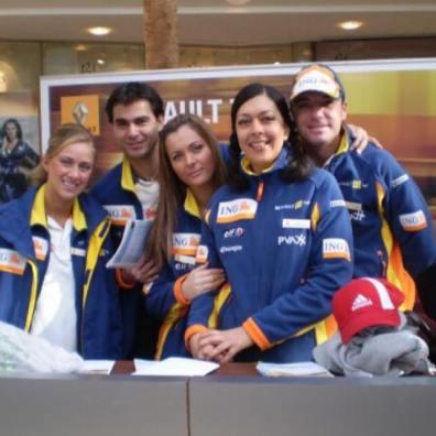 Renault promo staff for motorsport event