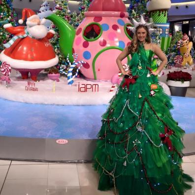 Stilt Walker Christmas themed entertainer