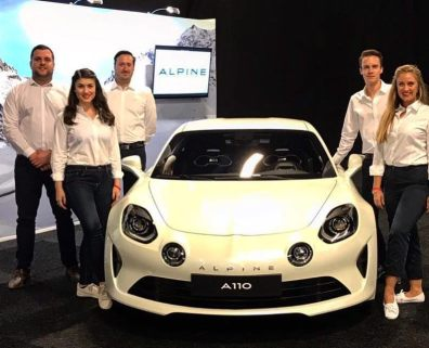Alpine Cars UK event support team and promotional staff