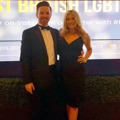 Host and Hostess providing meet and greet at the LGBTQ Awards London 2018