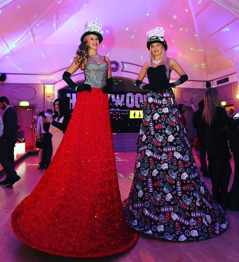 Stilt walkers for Hollywood / Casino theme event
