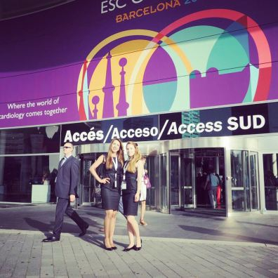 International Exhibition staff in Barcelona for medical conference