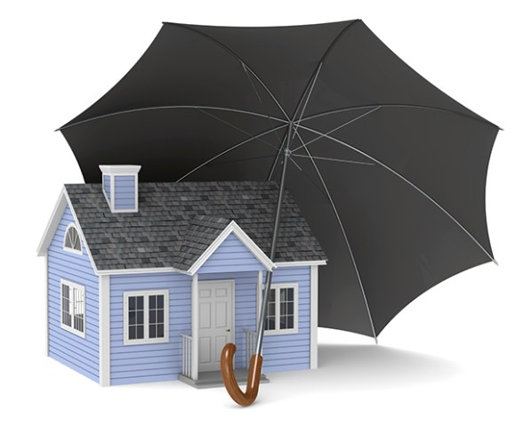 A house protected by an Umbrella