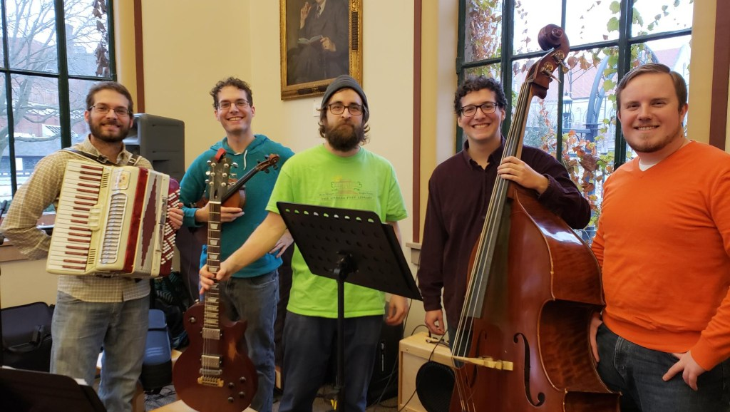 My band at the library