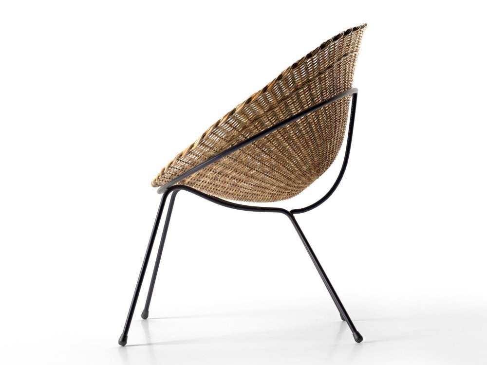 round wicker chair rocking with cushions and ottoman 3d model