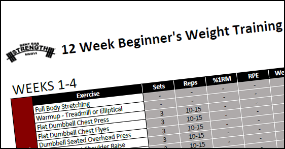 beginner s 3 day program 12 weeks bent bar strength