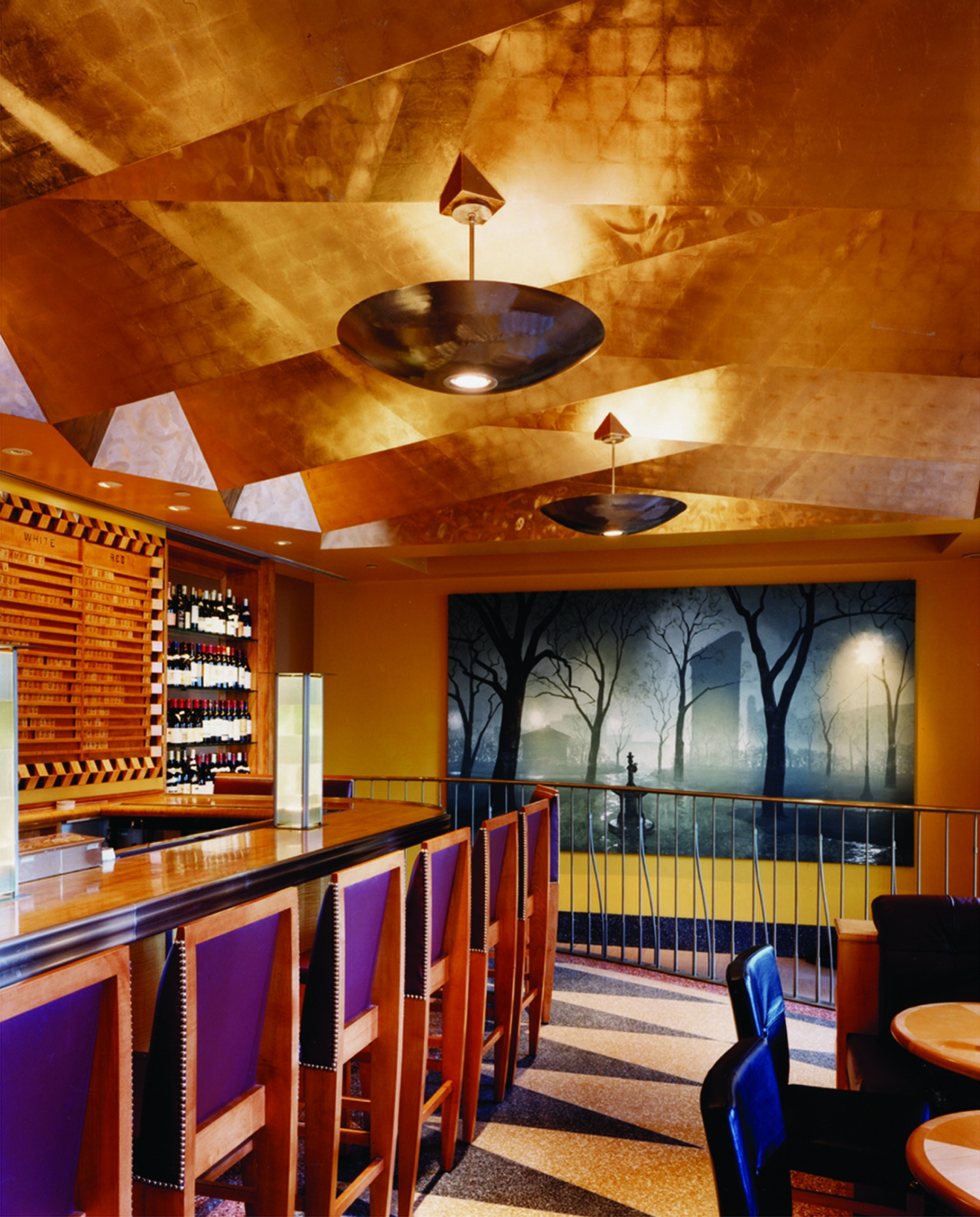 contemporary kitchen light fixtures pull out trash can eleven madison park | bentel & architects/planners ...