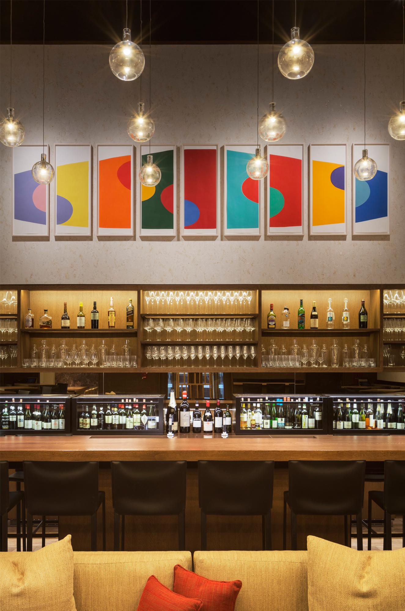 kitchen planners white tile aldo sohm wine bar | bentel & architects/planners a ...