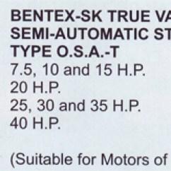 Wiring Diagram For Star Delta Motor Starter Stihl 009 Chainsaw Parts Bentex Oil Immersed Starters