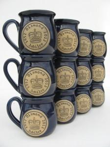 named mugs produced at Bentham Pottery
