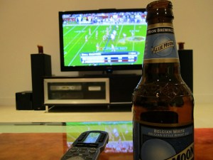 040/365: Watching football drinking beer