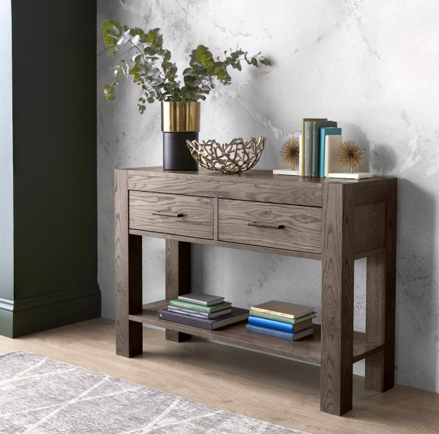 Premier Collection Turin Dark Oak Console Table Console Tables Bentley Designs