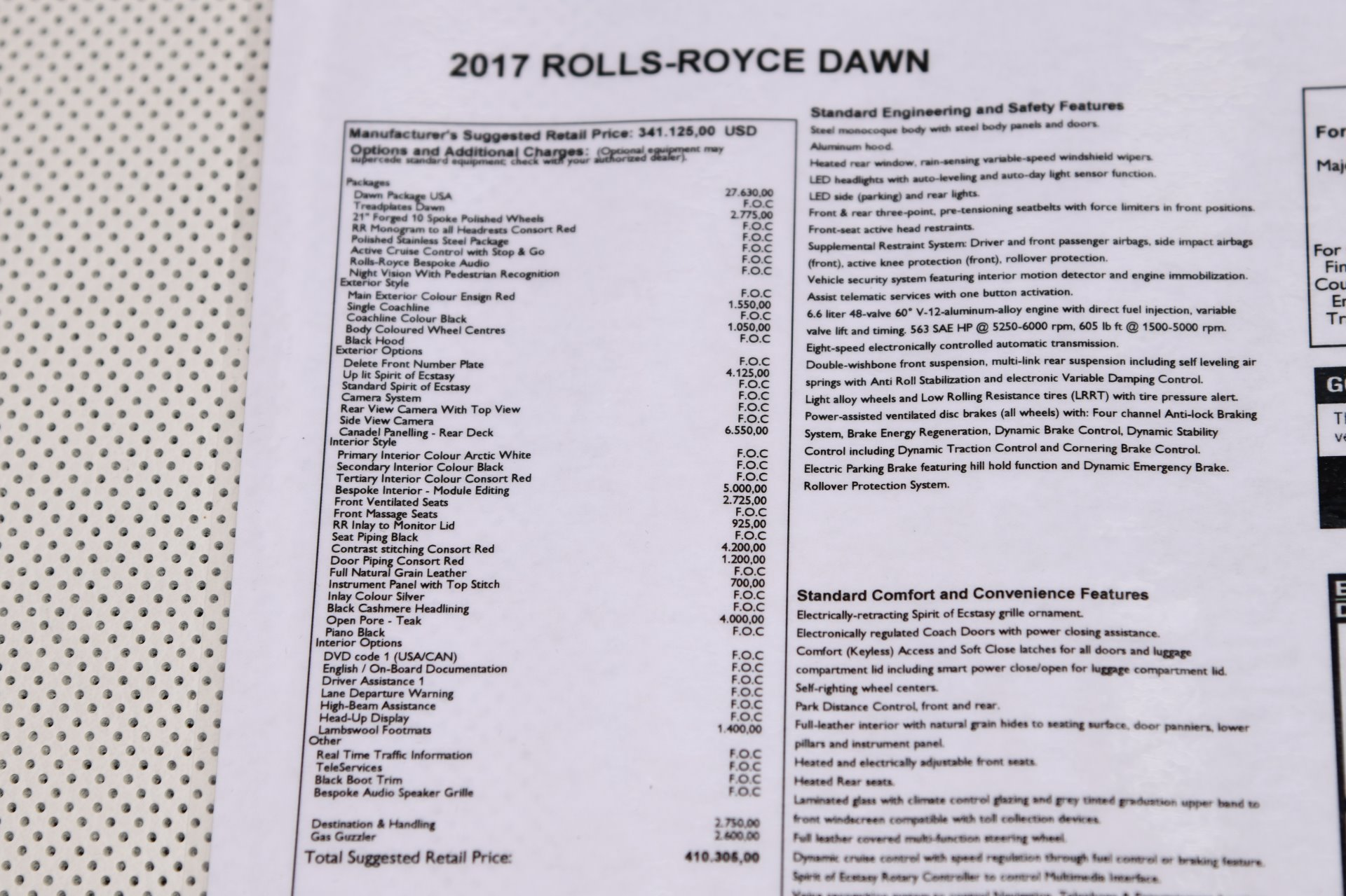 2017 Rolls-Royce Dawn Stock # GC2662 for sale near Chicago