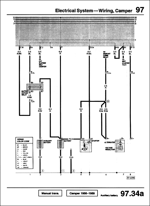 automotive wiring diagrams download 7 pin large round trailer diagram vw - volkswagen vanagon repair manual: 1980-1991 bentley publishers manuals and ...