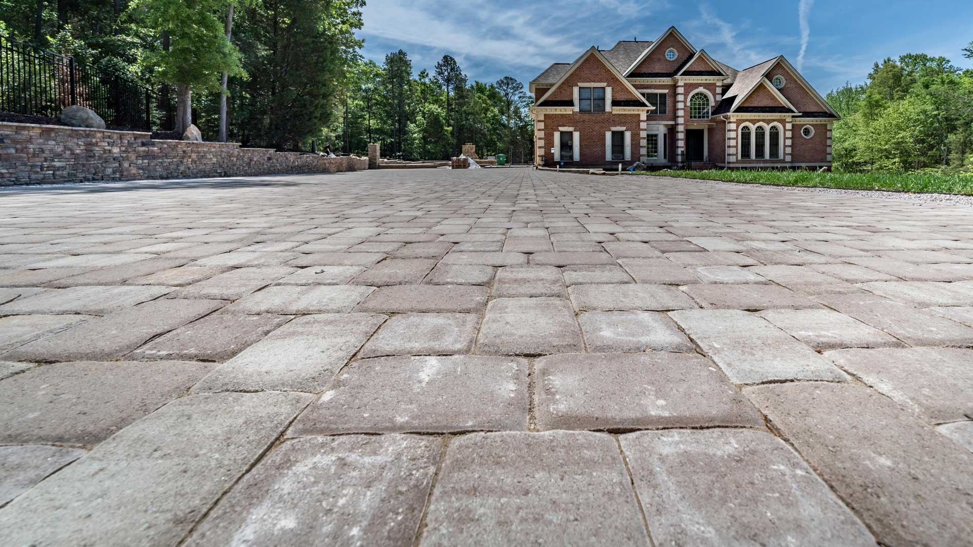 existing patio pavers