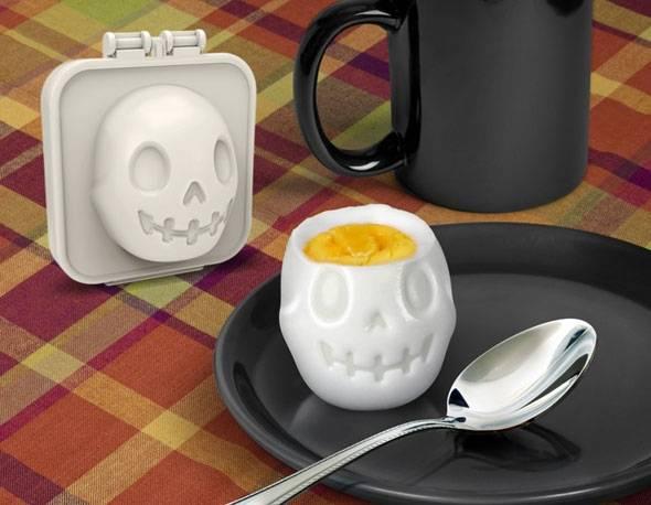 Hard Boiled Egg Mold EggAMatic Shaper Skull for Egg Mold