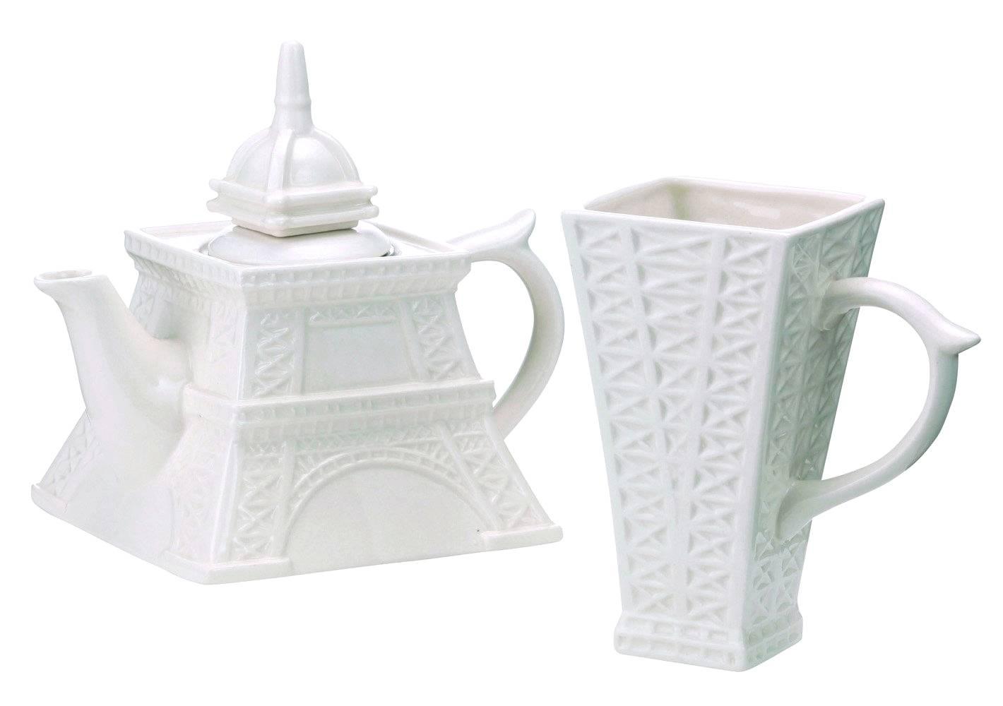 ceramic eiffel tower tea