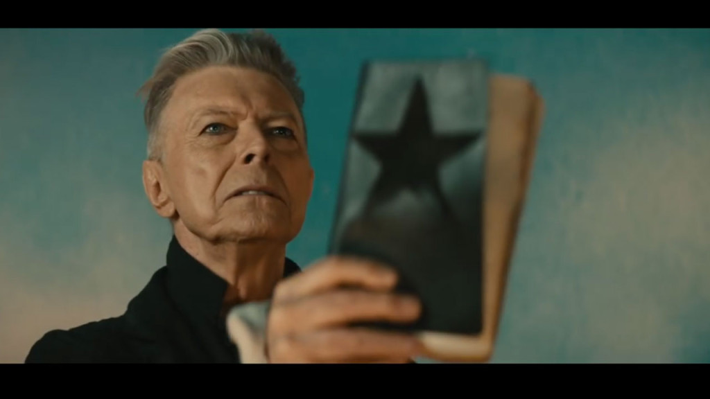 "David Bowie, in a still from the ""Blackstar"" video"