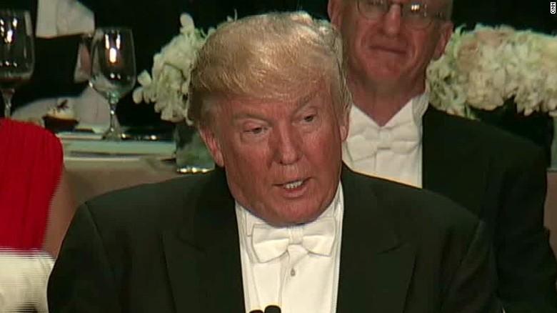 Donald Trump at Al Smith benefit dinner
