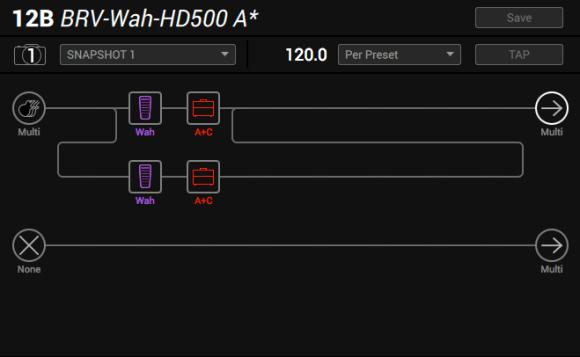 Line 6 Helix parallel wah method 2