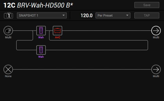 Line 6 Helix parallel wah method 3