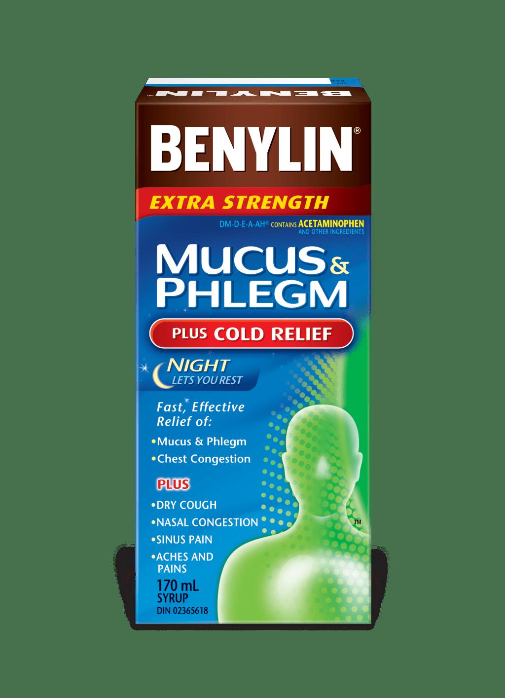 MUCUS & PHLEGM PLUS COLD RELIEF NIGHT Syrup   BENYLIN® Canada