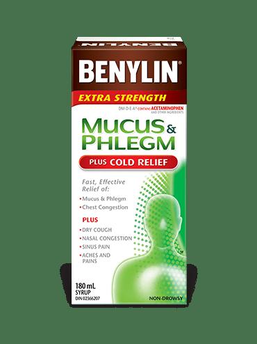 MUCUS & PHLEGM PLUS COLD RELIEF Syrup   BENYLIN® Canada
