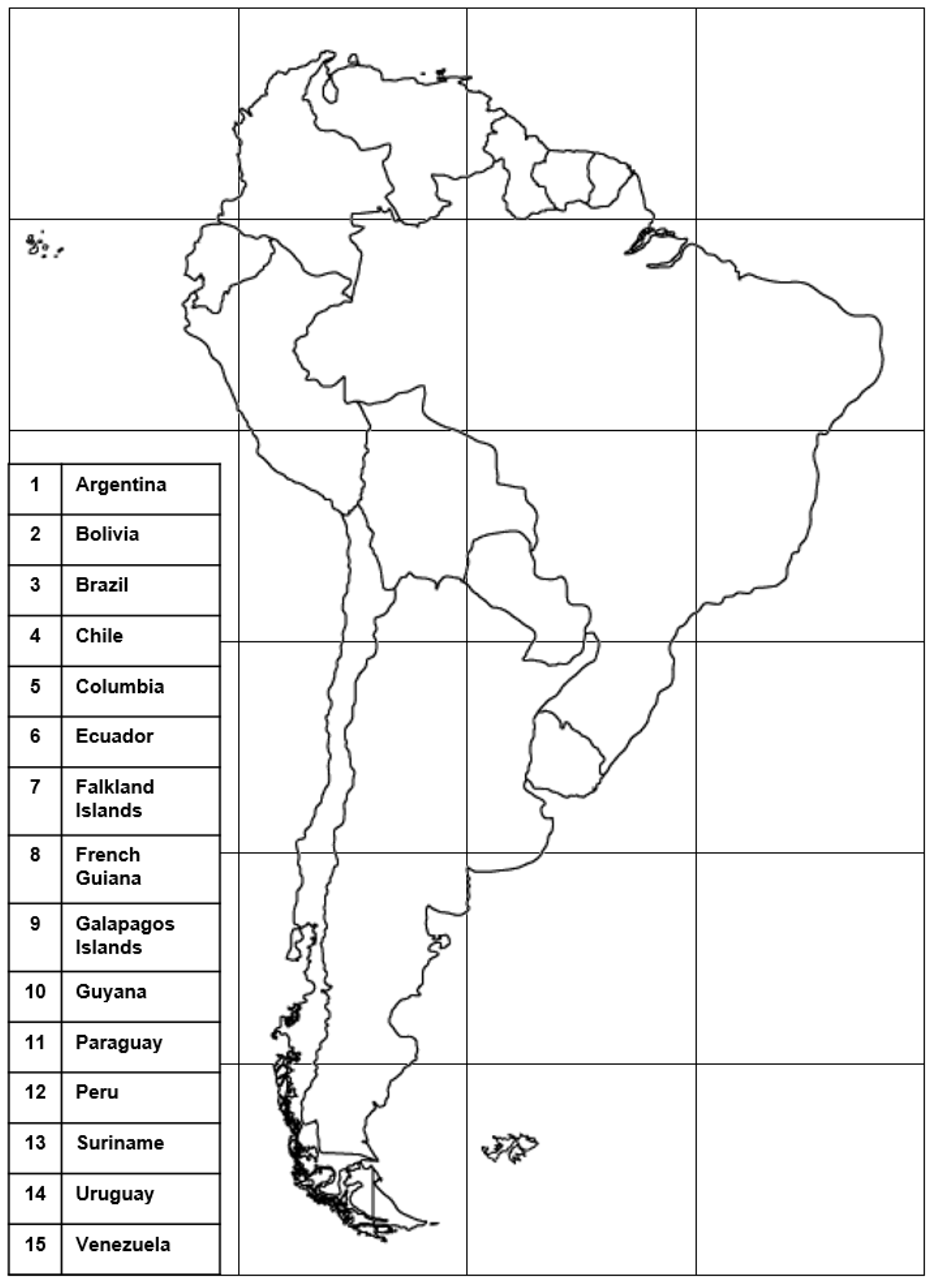 South America Map With Latitude And Longitude Lines