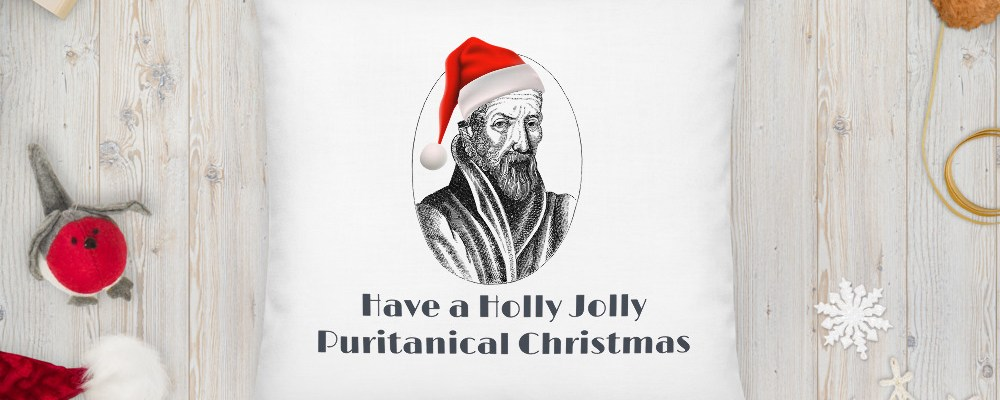 Holly Jolly Puritanical Pillow