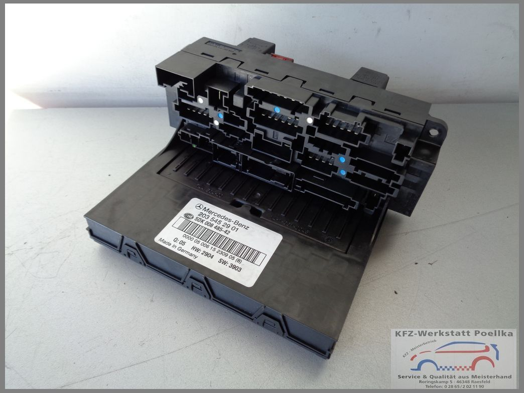 hight resolution of mercedes benz w203 control unit sam 2035452901 fuse box 5dk 008485 42