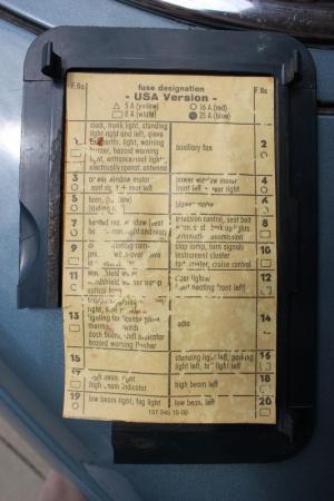 Need fuse diagram for 1976 450sl  MercedesBenz Forum