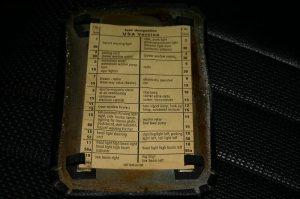 1972 350SL450SL FUSE PANEL ELECTRICAL  MercedesBenz Forum