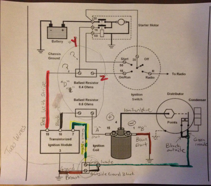 wiring diagram for ignition coil with points code alarm remote start ot: transistorized troubleshooting - mercedes-benz forum