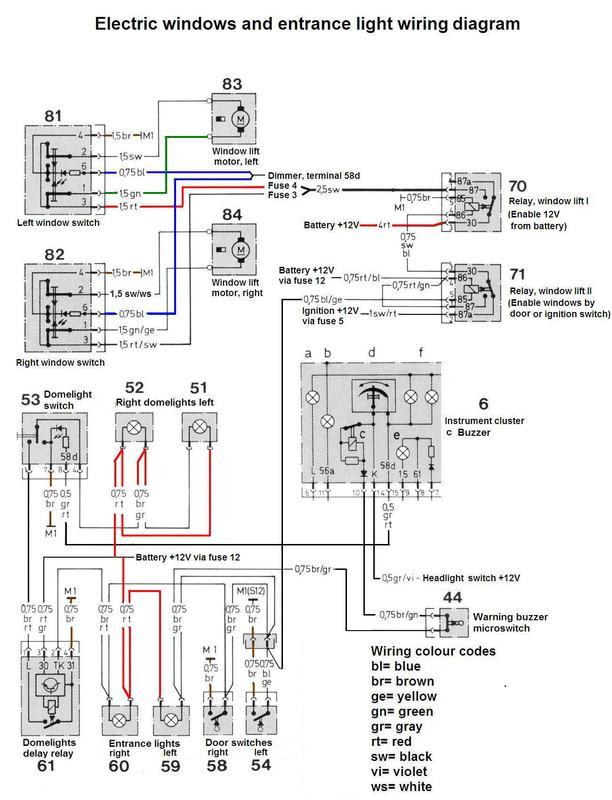 electric window wire diagram