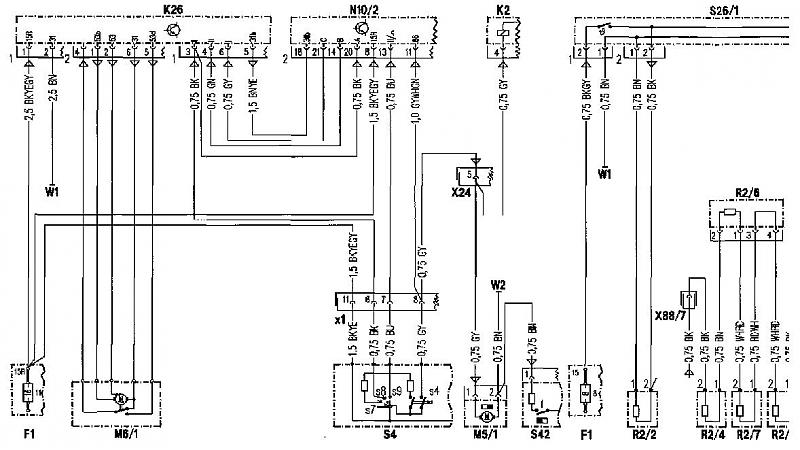 1991 mercedes 300 ignition wiring diagram