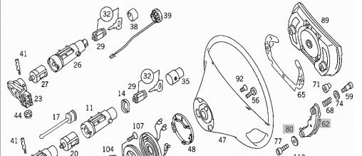 DIY: R129 Ignition switch & steering lock assembly R&R