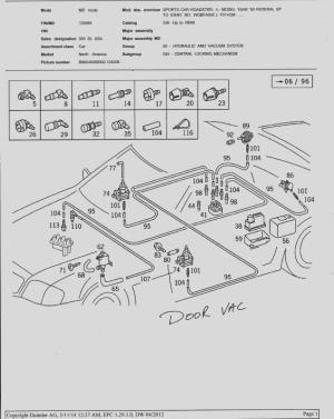 testing and schematic for vacuum pump of door locks