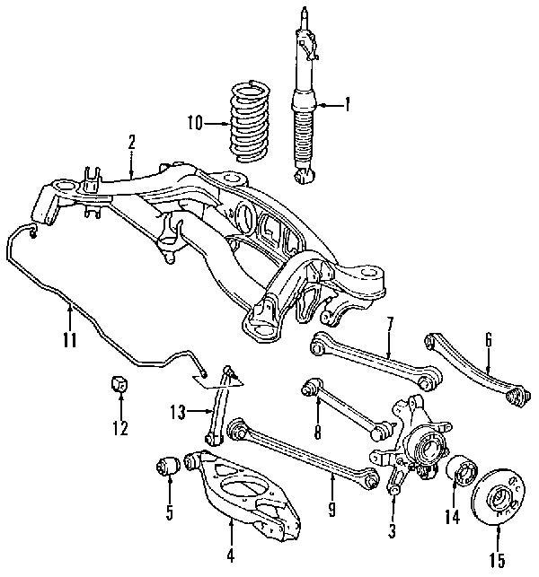 Mercedes C Class W203 Rear Suspension Diagram