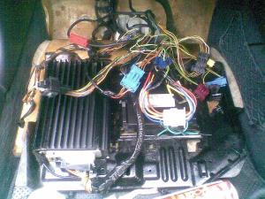 Wiring Diagram of Passenger Footwell Control Units Area